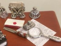 DOLLS HOUSE WORKING  MAGNIFYING GLASS ONLY!!!! (REAL GLASS & METAL ITEM.