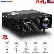 BL-18 1080P Mini LED Projector HDMI USB VGA Home Theater Cinema Multimedia NEW