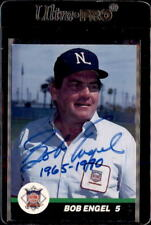 Bob Engel Umpire 1989 T&M Sports Autographed Signed Baseball Card #3 DECEASED