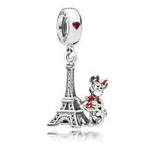 Genuino PANDORA Parque Disney Minnie Mouse Eiffel Remolque Encanto Colgante - 75010571551P