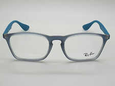 a2fee43a1a NEW Authentic Ray Ban RB 7045 5484 Matte Grey Blue 53mm RX Eyeglasses