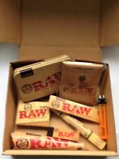 RAW SMOKERS BOX SET - Rolling Mat, Tin, Ashtray, Rolling Papers, Roach & More!