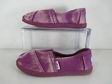 Girls Toms YOUTH CLASSICS Purple Palmetto Canvas Sz Y1 US
