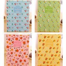4pk Cute Flowers Patterned Floral Mini Notebooks Small Notepads Pocket Memo Pads