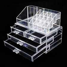 Makeup Cosmetic Organiser Drawers Display Beauty Jewelry Storage Case Acrylic