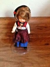 """Antique international religious 6"""" doll ~ cross hard plastic jointed legs arms"""