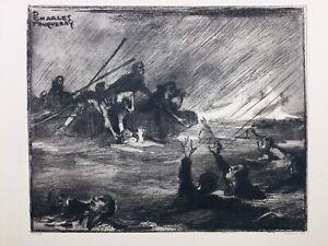Naufrage Bataille des Dardanelles en 1916 Marine Royaume Uni Turquie Fouqueray