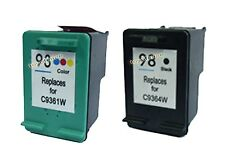 2 Packs: HP 93 + HP 98 Black and Color Ink Cartridges!