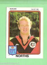 1981 NORTH SYDNEY BEARS SCANLENS RUGBY LEAGUE  CARD #134  STAN JURD