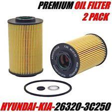 2 Engine Oil Filter HYUNDAI / KIA Fits Equus Genesis Borrego Sedona Sorento etc