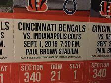 Cincinnati Bengals vs Indianapolis Colts Tickets 09/01/16 (Cincinnati)