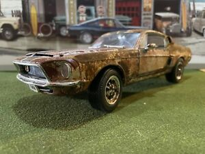 Barn Find Cars - Model Art: 1:18 1968 Shelby Mustang  500GT- Ertl - Rusted.