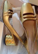 NIB Marc Jacobs Bette Crystal Embellished Block Heel Slingback Size 6 Orig.$350