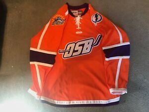 Orlando Solar Bears Authentic Replica Orange Hockey Jersey ECHL BNWT M