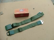 1965 Ford Galaxie green seat belt assembly, NOS!  C5AZ-6261200-AU