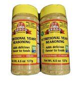 braggs nutritional yeast Seasoning 4.5oz GF vegan Non GMO Kosher ( pack Of 2 )