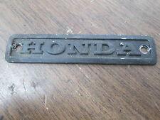 Vintage Honda Motorcycle Cylinder Engine Crankcase Cover Emblem Badge Mark Plate