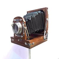 Antique Style Vintage Old Camera With Tripod Decorative