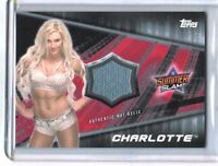 WWE Charlotte 2016 Topps Divas Revolution Event Used Mat Relic Card SN 17 of 25