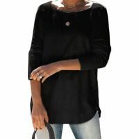 Women Solid Color O Neck Long-sleeved T-shirt Ladies Autumn TShirt Tops Blouse