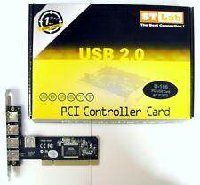 ST LAB Carte extension PCI 5 Ports USB 2.0 480 Mbps PCI card VIA controller