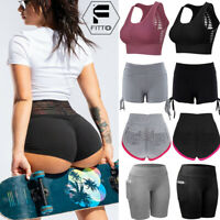 Womens Yoga Sports Bra Fitness Shorts Workout Tank Tops Vest Tops Sportwear Hot