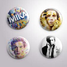4 MIKA- Pinbacks Badge Button Pin 25mm 1''