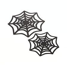 "12 Crate&Barrel Halloween Paper Spiderweb Doilies/Stencils/Decorations-9&12"""