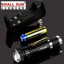 400 METER 1000 LM CREE XP-G LED ZOOMABLE TACTICAL FLASHLIGHT + CHARGER BATTERY