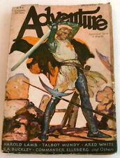 Adventure Pulp, Dec. 1st, 1930, Harold Lamb, Talbot Mundy, VG+ 4.5
