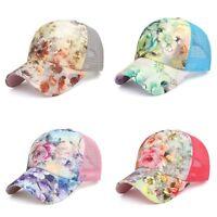Women Ponytail Baseball Cap Mesh Sun Hats Snapback Baseball Cap Sports Caps...