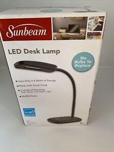 Sunbeam LED Desk Lamp Flexible Neck Energy Star Black