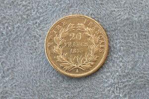 Pièce 20 Francs OR Napoléon III - Tête Nue - 1853 A - BON ETAT voir photos
