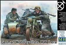 German WEHRMACHT motociclistas, WW II era #35178 1/35 Masterbox