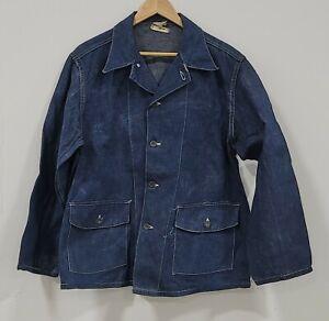 Exceptional WW2 US Navy Denim Shawl Collar Donut Button Chore Jacket
