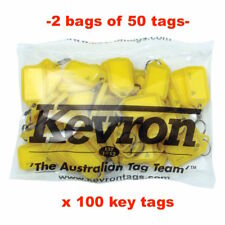 ESSELTE 37748 Key Tags Kevron Yellow Bag 50