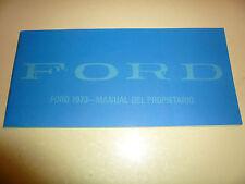 1973 Ford Manual Del Propietario - Vintage Manual - Glove Box - In Spanish
