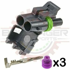 For GM Delphi / Packard - 2-way Weatherpack Plug Connector Kit