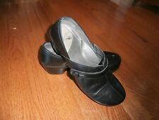 Dansko size 41 Solstice black leather button clog shoe EUC