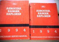 Two 1994 Ford Aerostar Ranger Explorer Drivetrain Chassis Service Manual Diagram