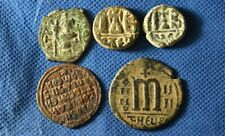 Lot of 5 Byzantine Imperial Bronze coins.