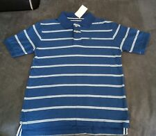 NWT Urban Pipeling Polo Shirt Boys Short Sleeve Navy Blue & White Striped Size M