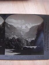 Stereoscope PhotographFrom Trinkhalle to the Jungfrau Interlaken  Switzerland