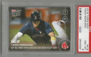 2016 Topps Now Yoan Moncada PSA 8 Call Up