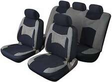 LAGUNA SECA UNIVERSAL FULL SET SEAT PROTECTOR COVERS GREY & BLACK FOR RENAULT