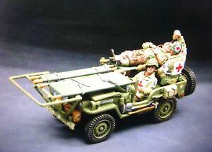 king &country DD068 54mm  WW2 American jeep ambulance w/3 figs 2006 MIB oop