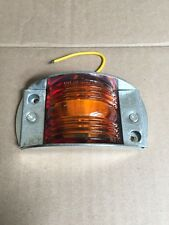"""Amber 2x4.5"""" LED Clearance Tail Light P2 PC99 J-550 Metal Base New Old Stock"""