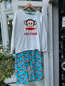 PAUL FRANK LOVE TO LOUNGE PYJAMAS SET MONKEY MOTIF LARGE XL 18/20