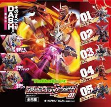 Bandai SD Gundam DASH 01 Gashapon Set (Set of 5) Zaku II God Master FA MK-II