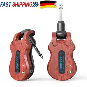 5.8G Wireless Gitarren System Sender Empfänger 4 Kanäle Wiederaufladbar K9V8